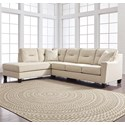 Benchcraft Kirwin Nuvella Sectional with Sleeper Sofa & Chaise - Item Number: 9960516+70