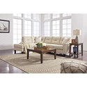 Benchcraft Kirwin Nuvella Sectional with Sleeper Sofa & Left Chaise in Performance Fabric