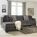 Ashley Kumasi 2-Piece Sectional with Left Chaise - Item Number: 3220216+67