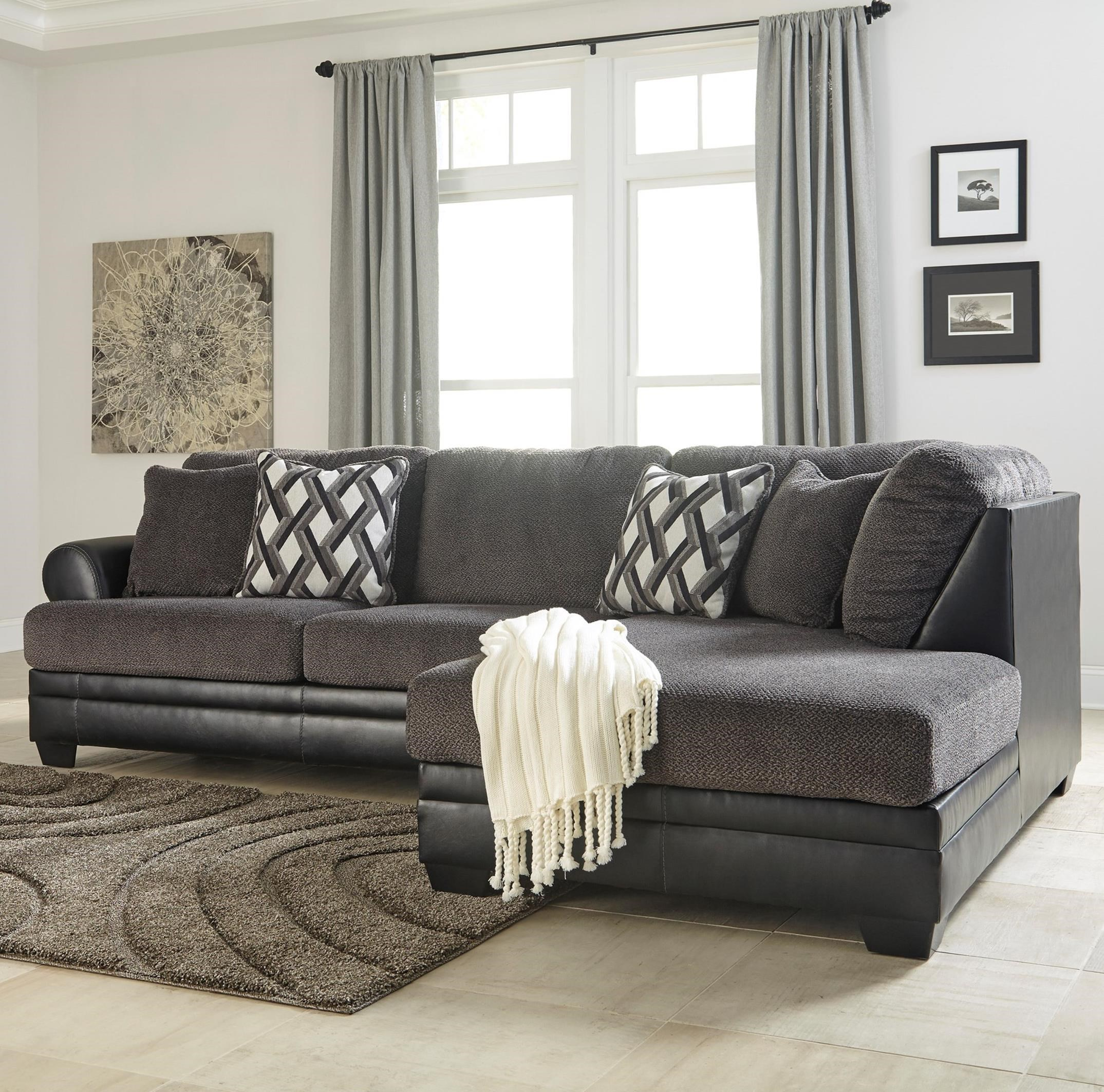 Benchcraft Kumasi 2-Piece Sectional with Right Chaise - Item Number: 3220266+17