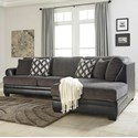 Ashley Kumasi 2-Piece Sectional with Right Chaise - Item Number: 3220266+17