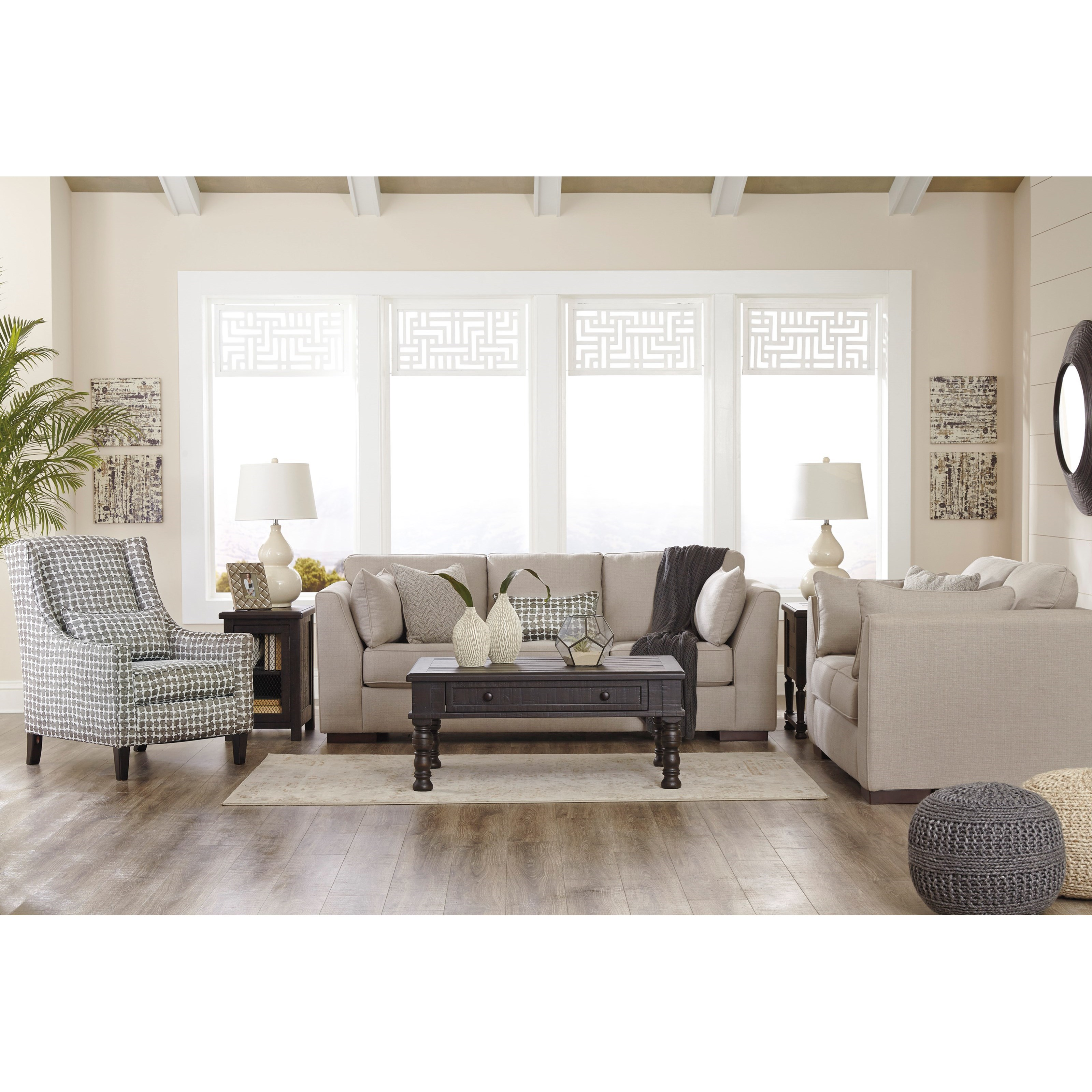 Ashley/Benchcraft Lainier Stationary Living Room Group - Item Number: 54202 Living Room Group 2