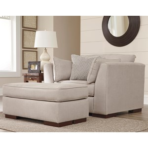 Ashley Lainier Chair and a Half & Ottoman