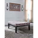 Benchcraft Larkhaven Oversized Accent Ottoman with Geometric Fabric and Tall Legs