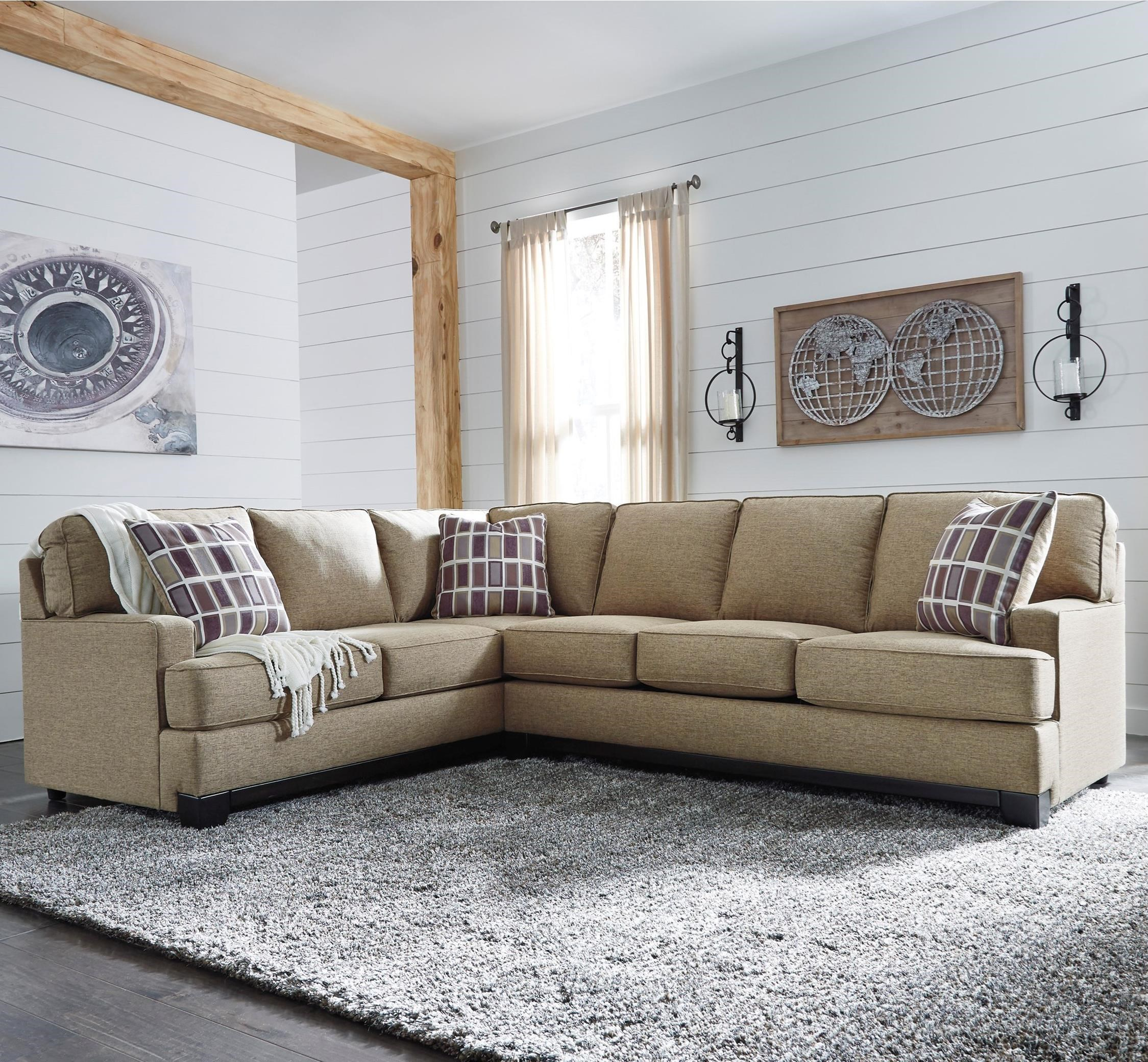 Benchcraft Larkhaven Contemporary 2-Piece Sectional with Right Sofa ...