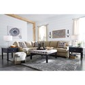 Benchcraft Larkhaven Contemporary 2-Piece Sectional with Right Sofa