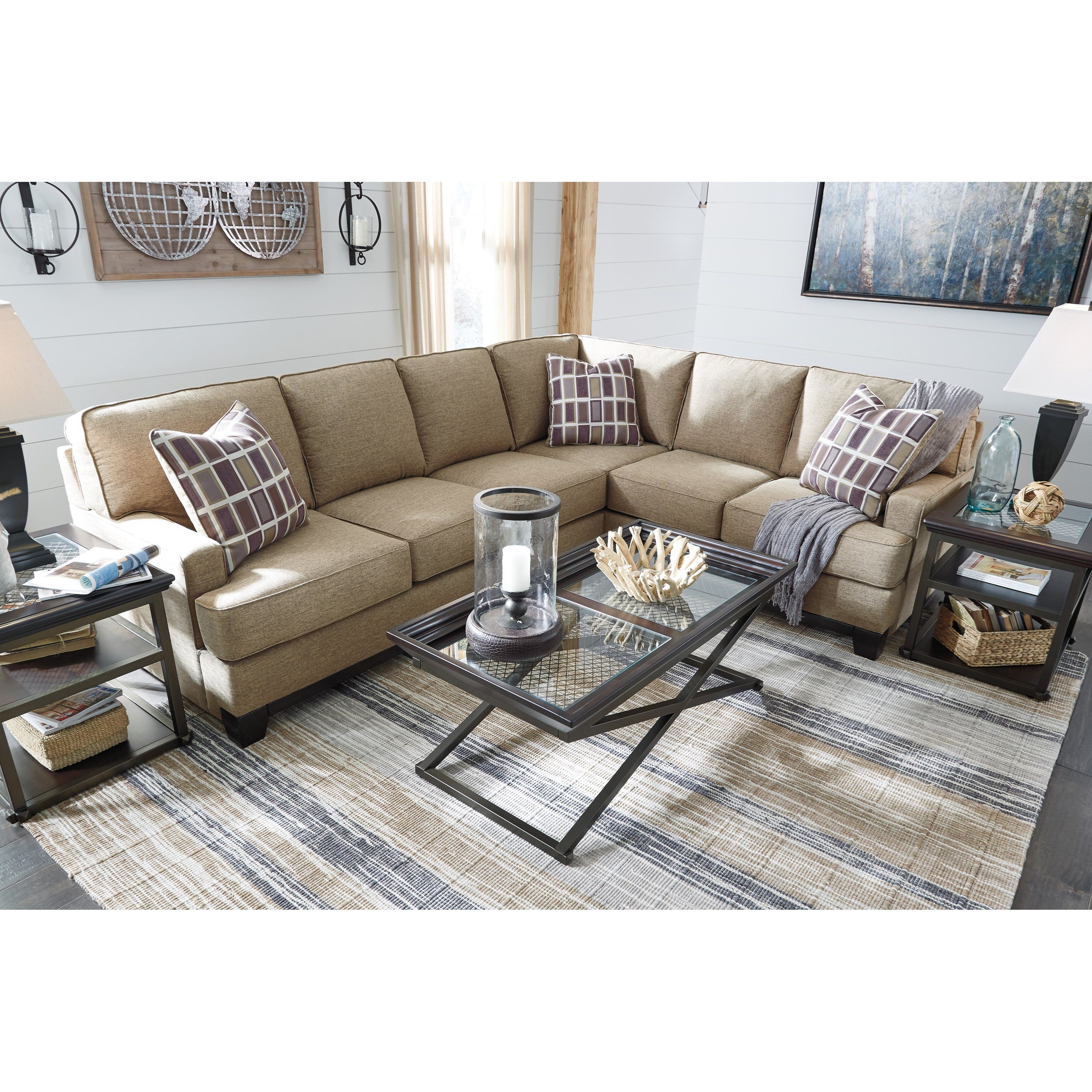 Benchcraft Larkhaven Contemporary 2-Piece Sectional With