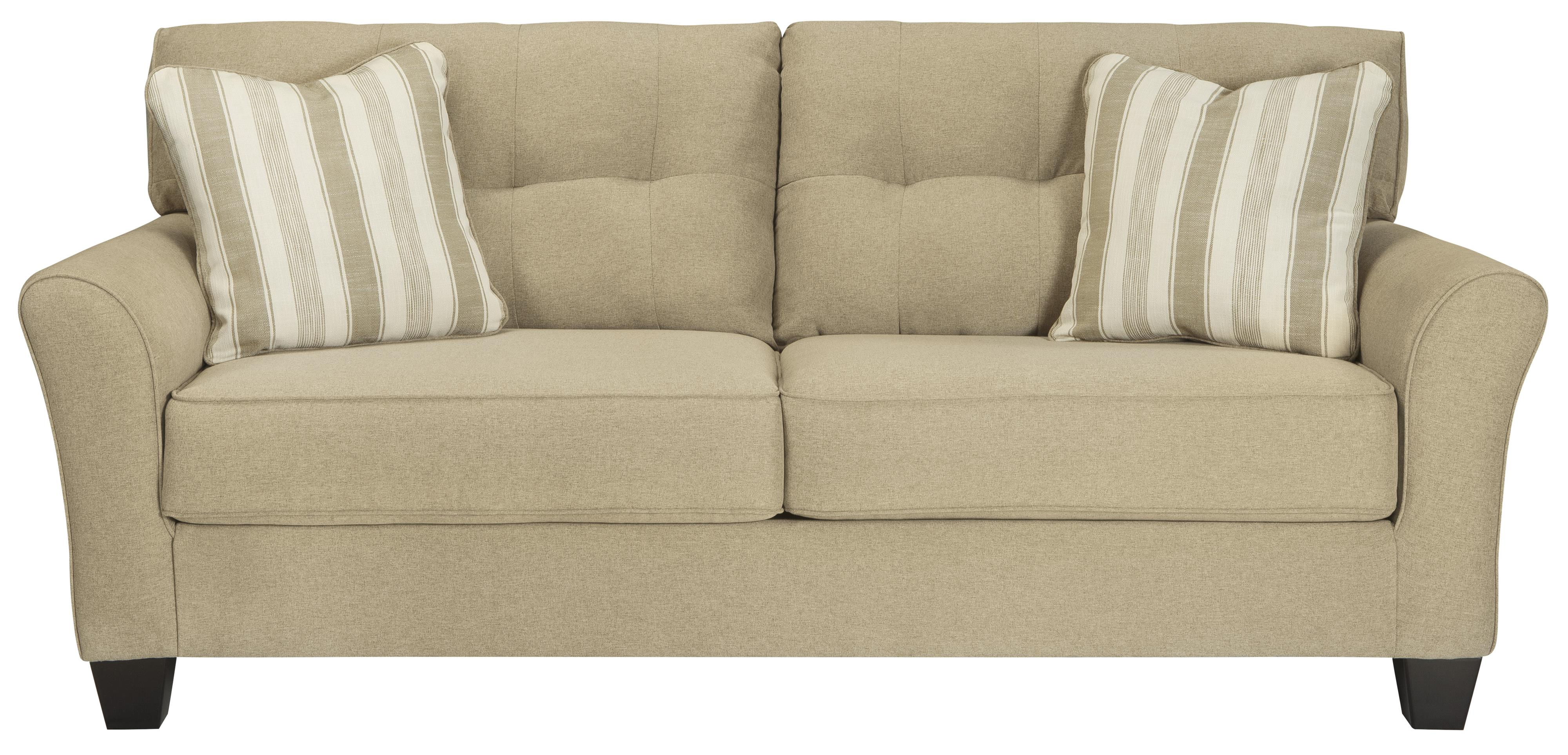 Ashmont Contemporary Sofa in Khaki Fabric Rotmans Sofa