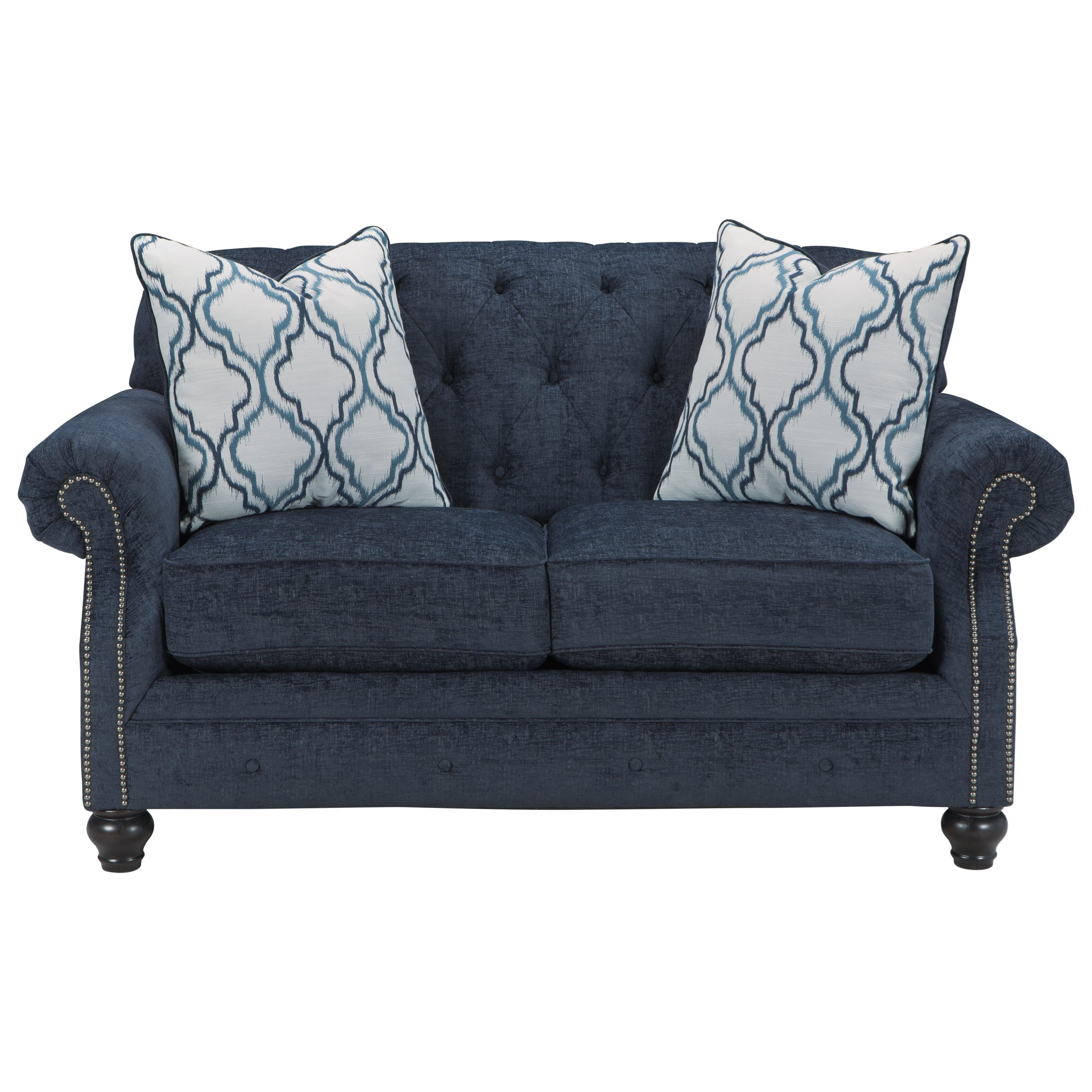 Benchcraft By Ashley Lavernia Transtional Loveseat With Tufted Back Royal Furniture Love Seats