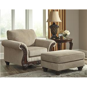 Ashley/Benchcraft Laytonsville Chair & Ottoman