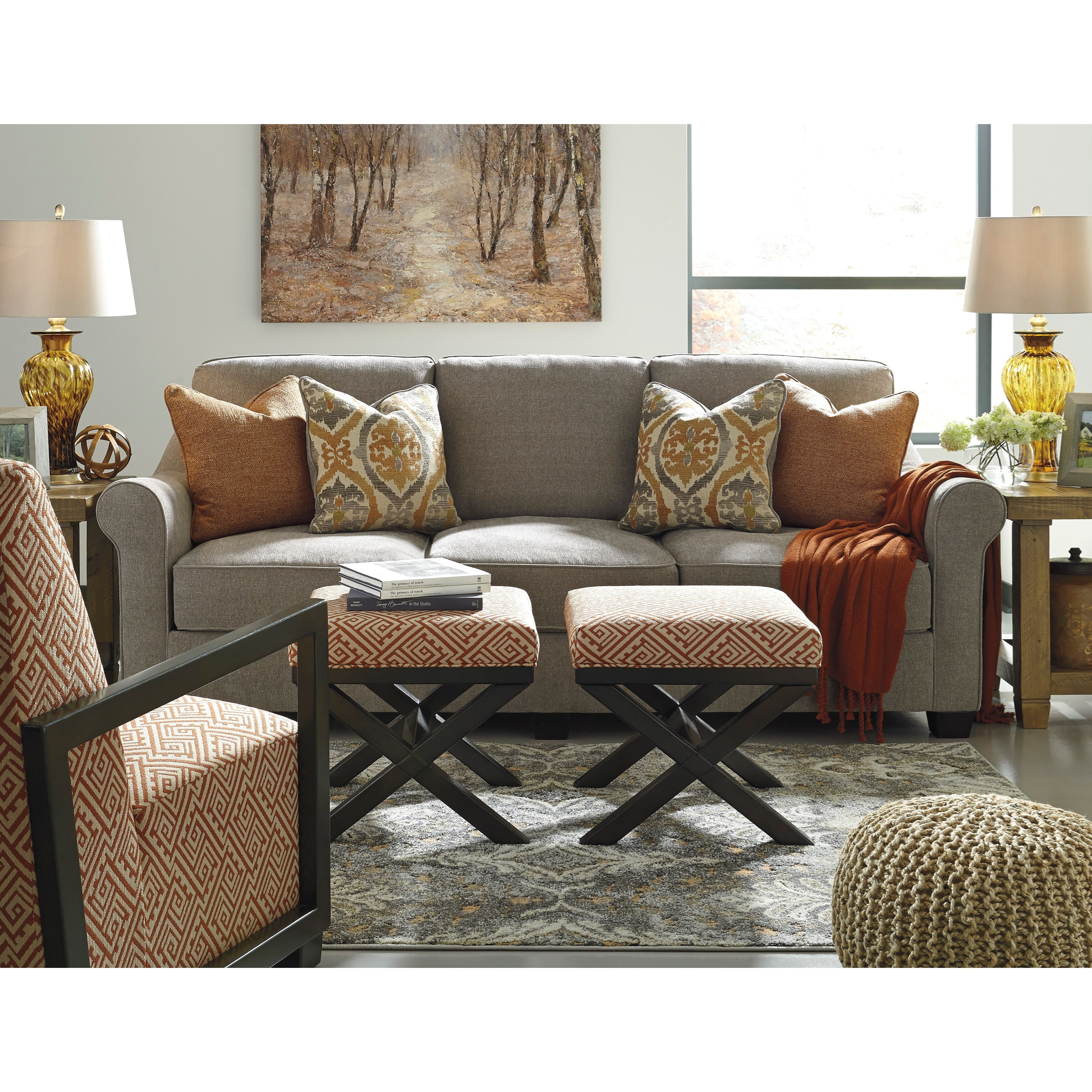 Benchcraft Leola Stationary Living Room Group - Item Number: 53601 Living Room Group 2