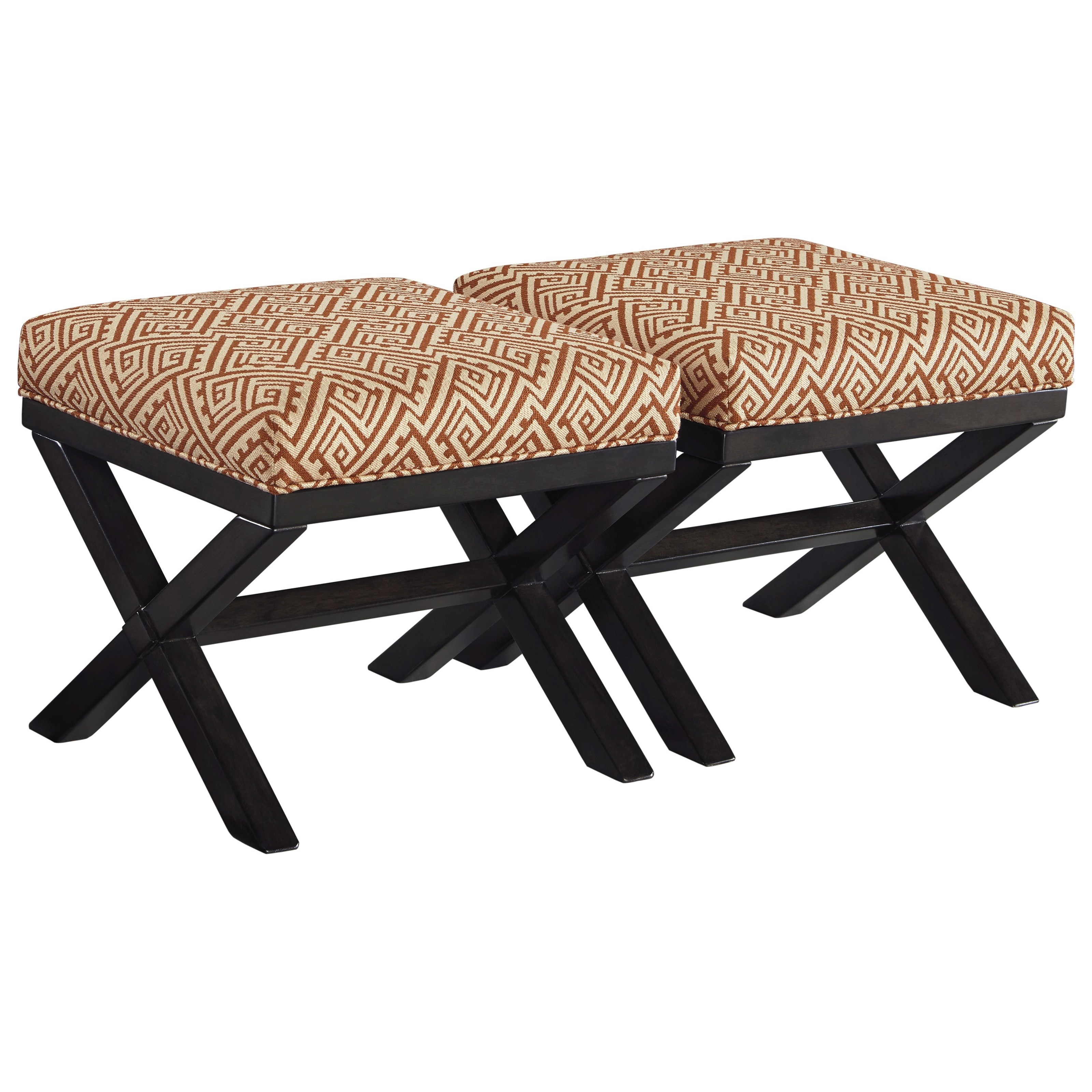 Benchcraft Leola Set of 2 Accent Ottomans - Item Number: 5360113