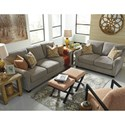 Ashley/Benchcraft Leola Contemporary Sofa with Reversible UItraPlush Seat Cushions