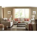 Benchcraft Lisle Nuvella Chair and a Half & Ottoman in Performance Fabric