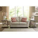 Benchcraft Lisle Nuvella Loveseat in Performance Fabric