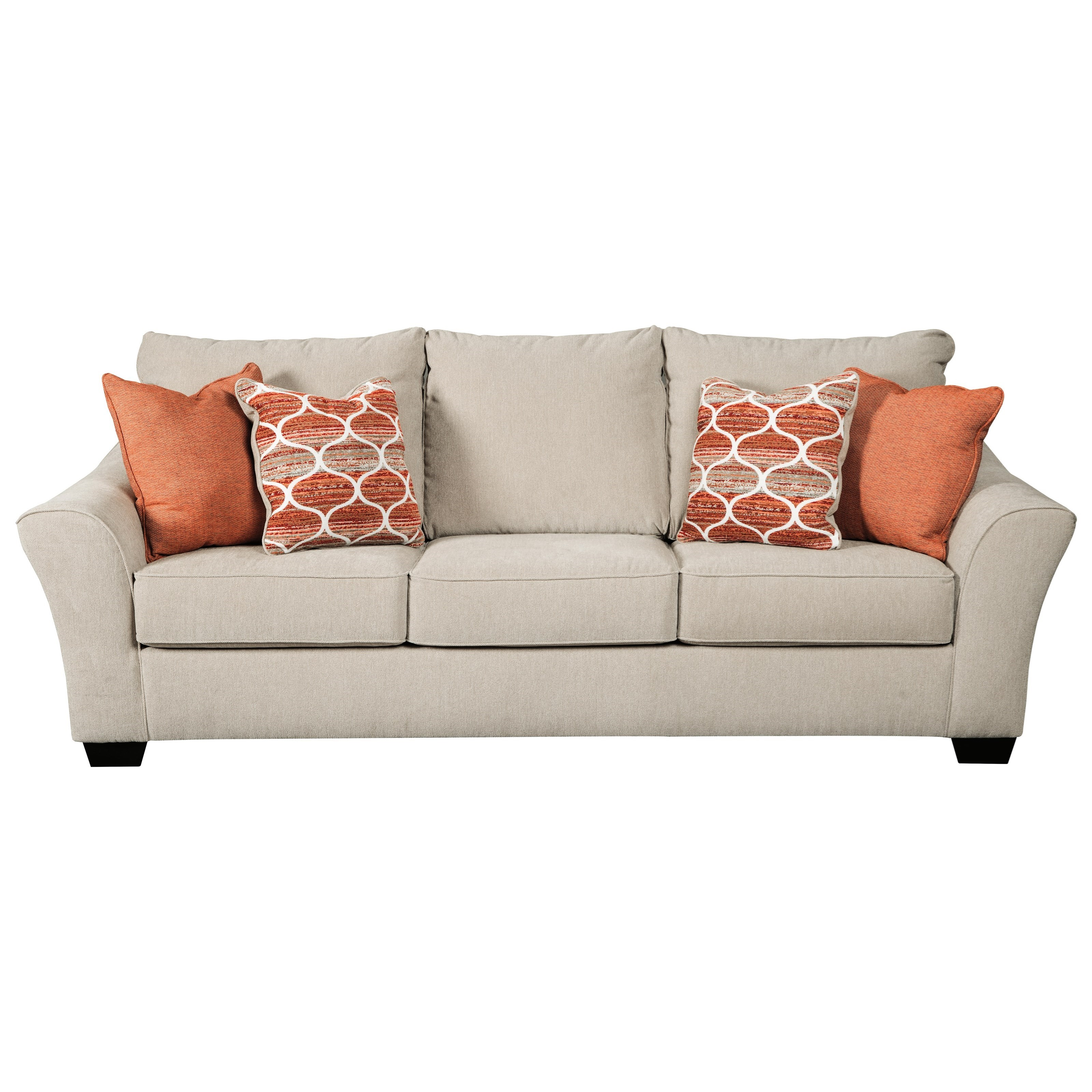 Benchcraft By Ashley Lisle Nuvella Queen Size Sofa Sleeper In Performance Fabric Royal