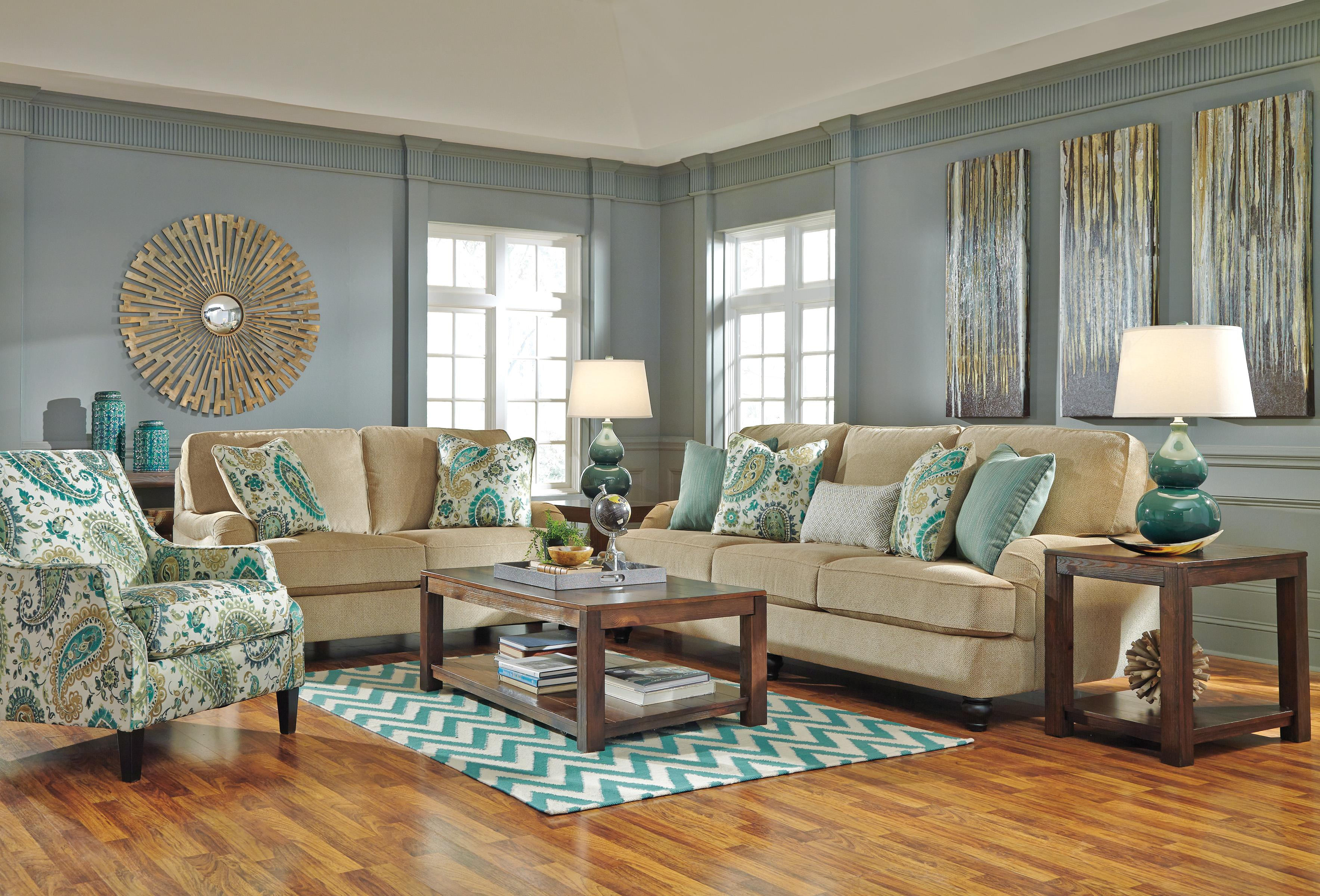 Ashley/Benchcraft Lochian Stationary Living Room Group - Item Number: 58100 Living Room Group 3