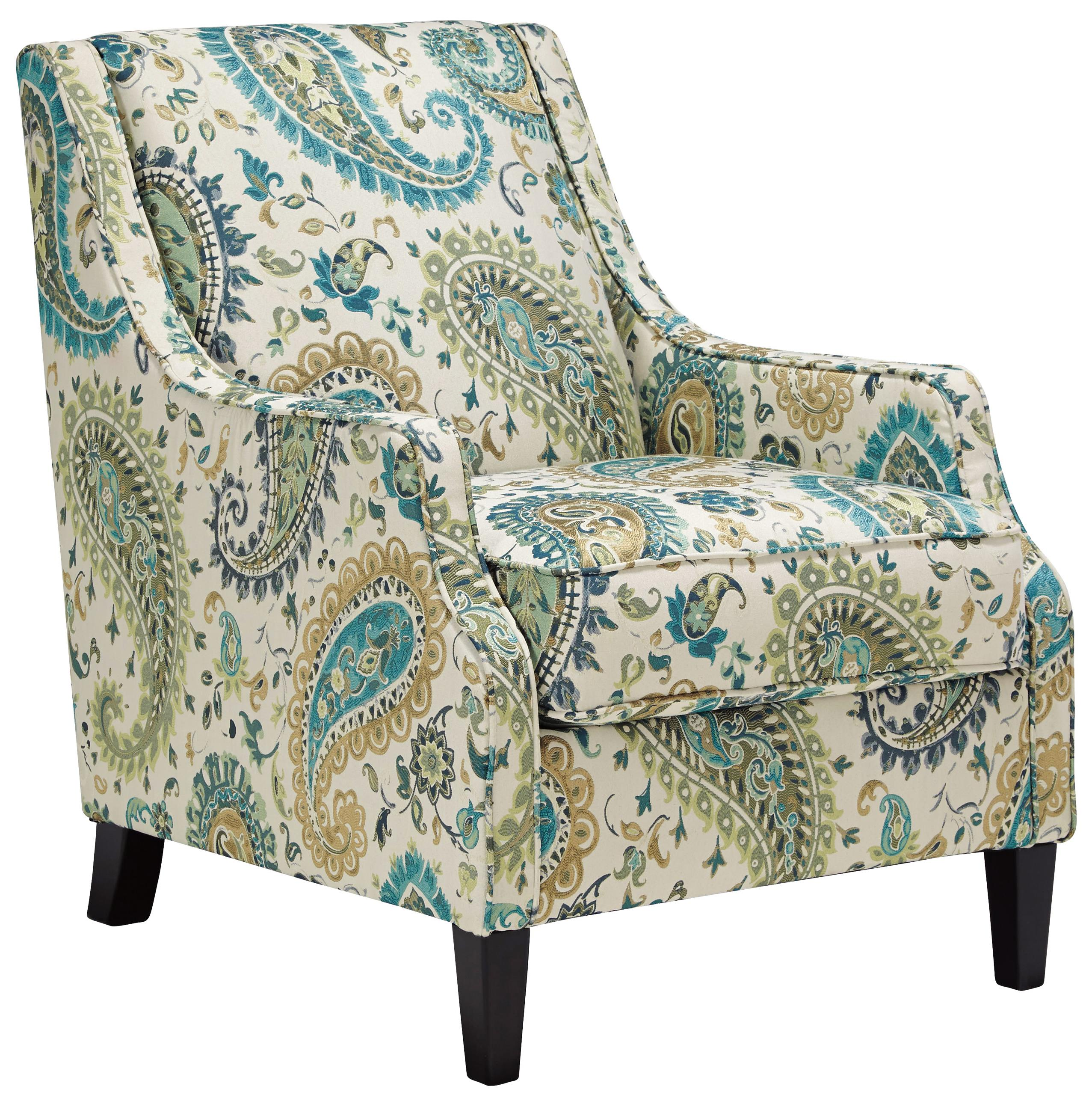 Benchcraft Lochian Transitional Accent Chair in Paisley Fabric
