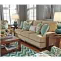 Benchcraft Lochian Sofa with Reversible Coil Seat Cushions & English Arms