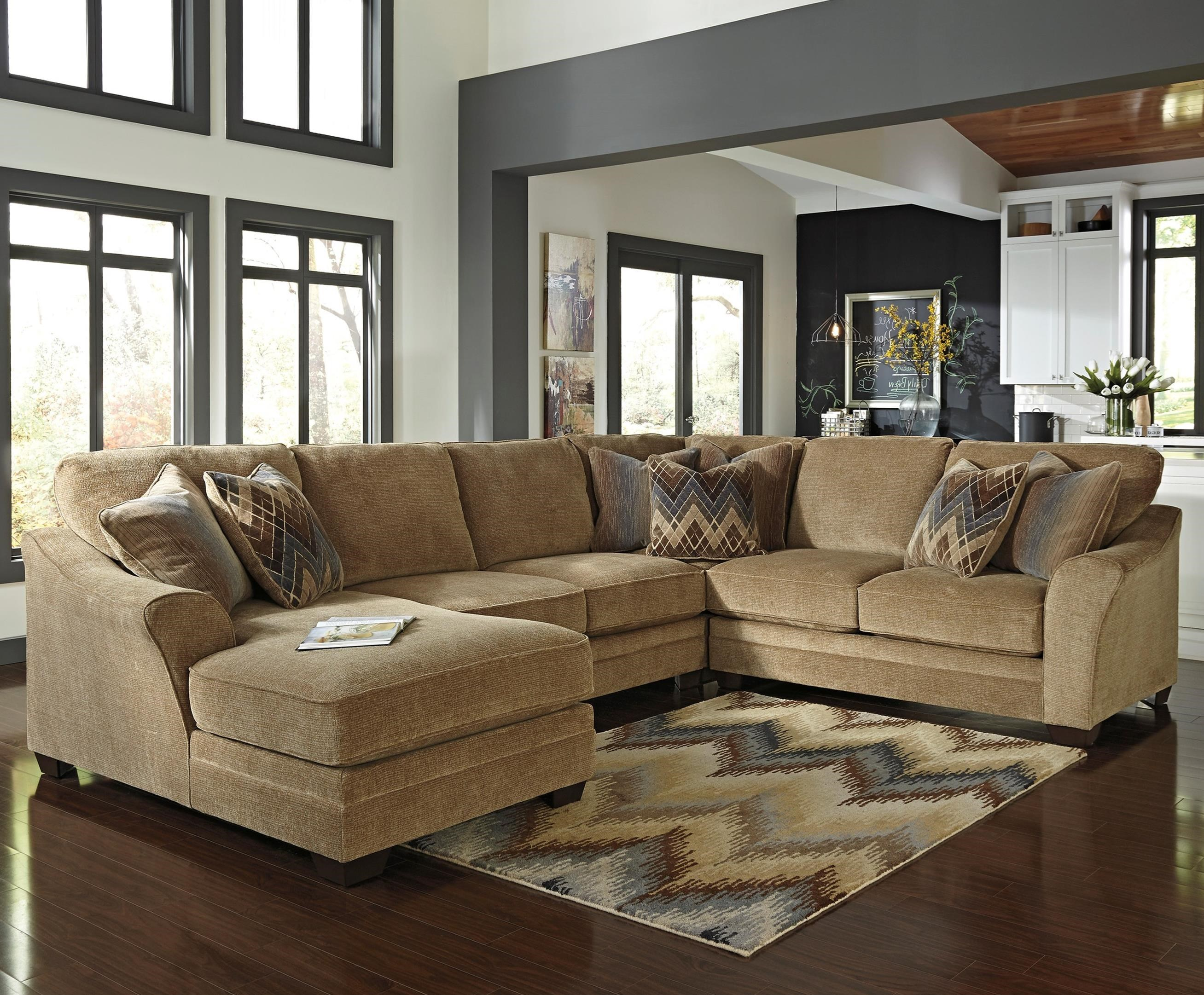 Benchcraft Lonsdale 4-Piece Sectional with Left Chaise - Item Number: 9211116+34+77+56