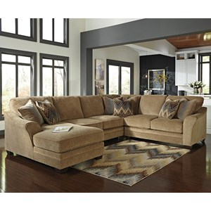 Benchcraft Lonsdale 4-Piece Sectional with Left Chaise