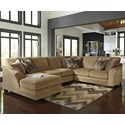 Ashley Lonsdale 4-Piece Sectional with Left Chaise - Item Number: 9211116+34+77+56