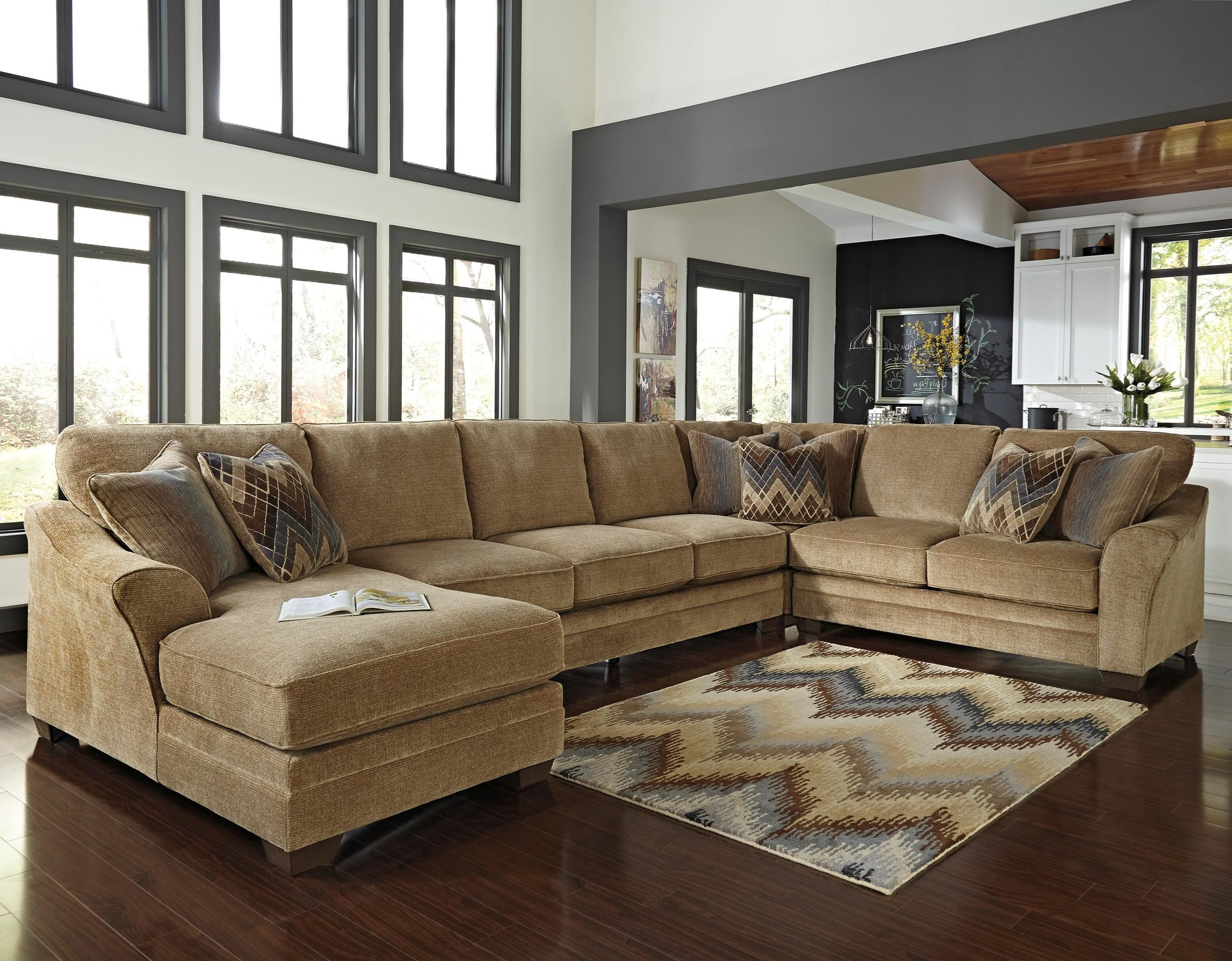 Benchcraft Lonsdale 4-Piece Sectional w/ Armless Sofa & Chaise - Item Number: 9211116+99+77+56
