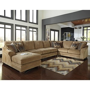 Ashley/Benchcraft Lonsdale 4-Piece Sectional w/ Armless Sofa & Chaise