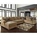 Ashley/Benchcraft Lonsdale 4-Piece Sectional w/ Armless Sofa & Chaise - Item Number: 9211116+99+77+56