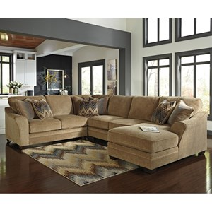 Ashley/Benchcraft Lonsdale 4-Piece Sectional with Right Chaise