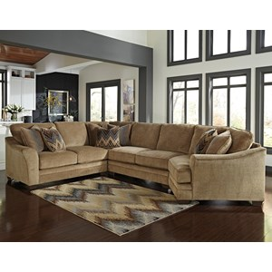 Ashley/Benchcraft Lonsdale 4-Piece Sectional with Right Cuddler