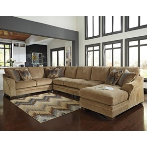 Benchcraft Lonsdale 4-Piece Sectional w/ Armless Sofa & Chaise