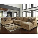 Benchcraft Lonsdale 4-Piece Sectional w/ Armless Sofa & Chaise - Item Number: 9211155+77+99+17