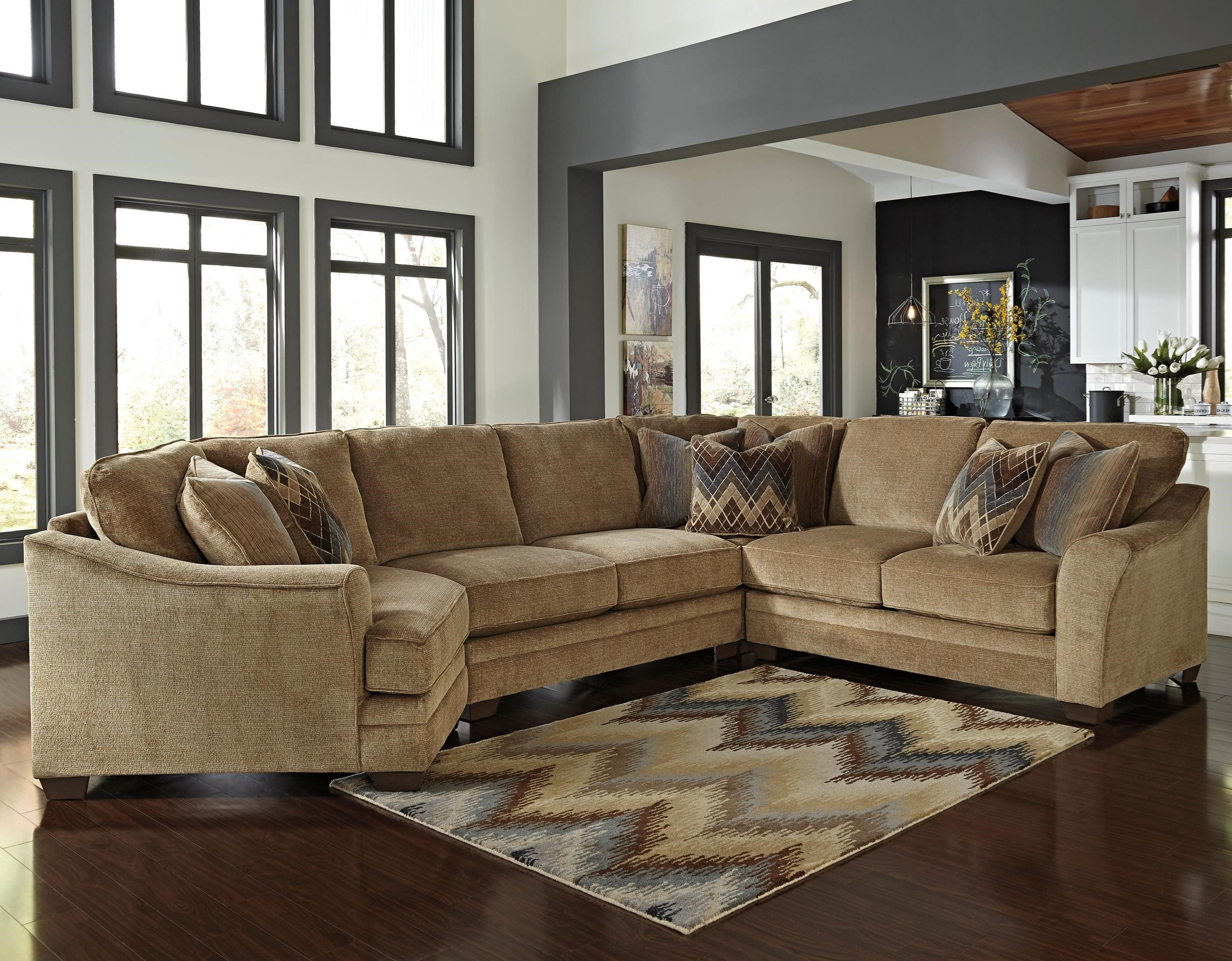 Ashley/Benchcraft Lonsdale 4-Piece Sectional with Left Cuddler - Item Number: 9211176+34+77+56
