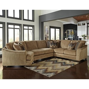 Benchcraft Lonsdale 4-Piece Sectional with Left Cuddler