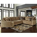 Benchcraft Lonsdale 4-Piece Sectional with Left Cuddler - Item Number: 9211176+34+77+56