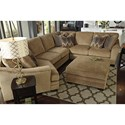 Benchcraft Lonsdale Contemporary 4-Piece Sectional with Left Cuddler