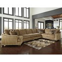 Ashley Lonsdale 4-Piece Sectional w/ Armless Sofa & Cuddler - Item Number: 9211176+99+77+56