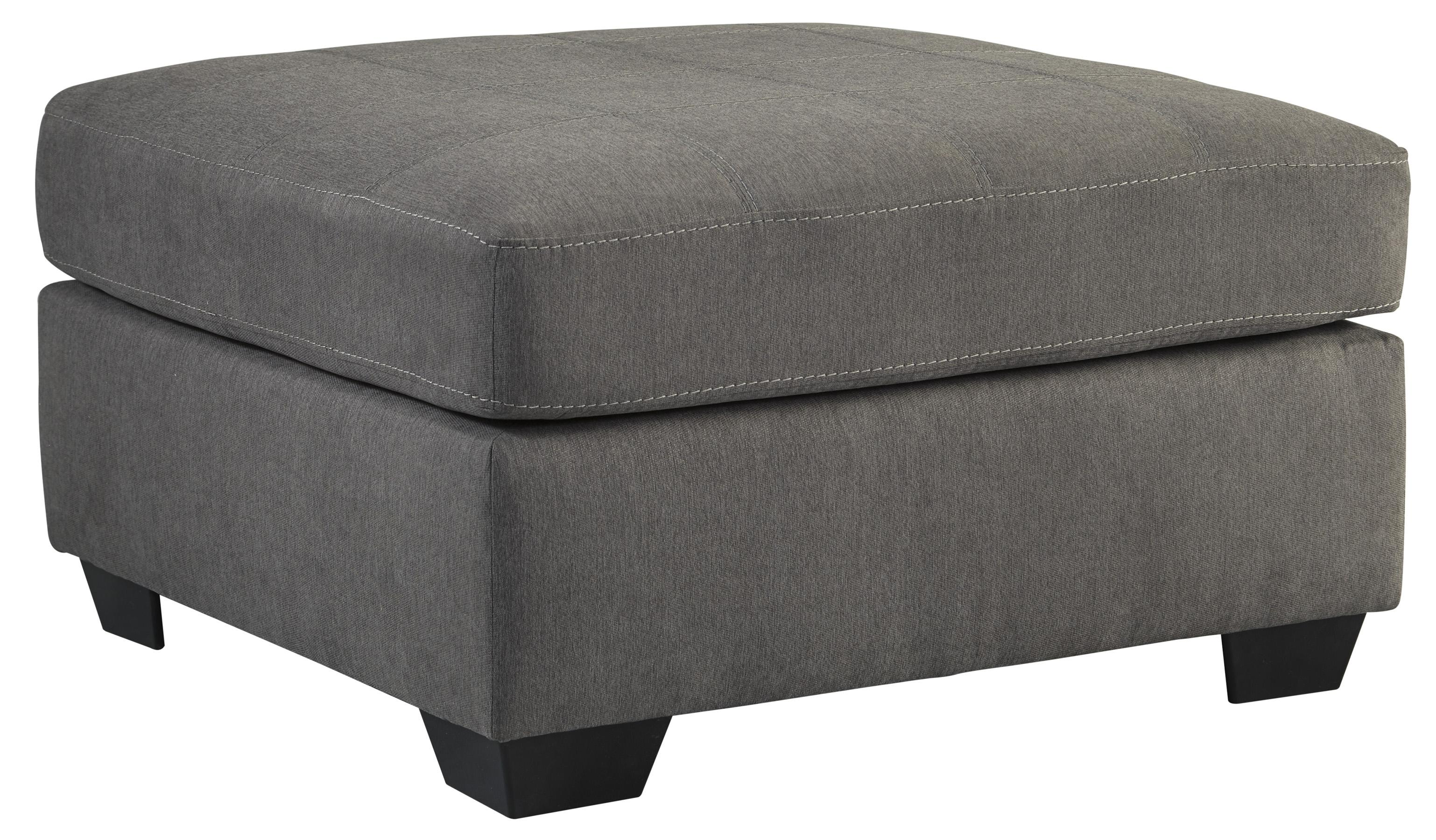 Benchcraft Maier - Charcoal Oversized Accent Ottoman - Item Number: 4520008