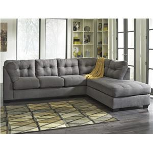 Ashley/Benchcraft Maier - Charcoal 2-Piece Sectional w/ Sleeper Sofa & Chaise