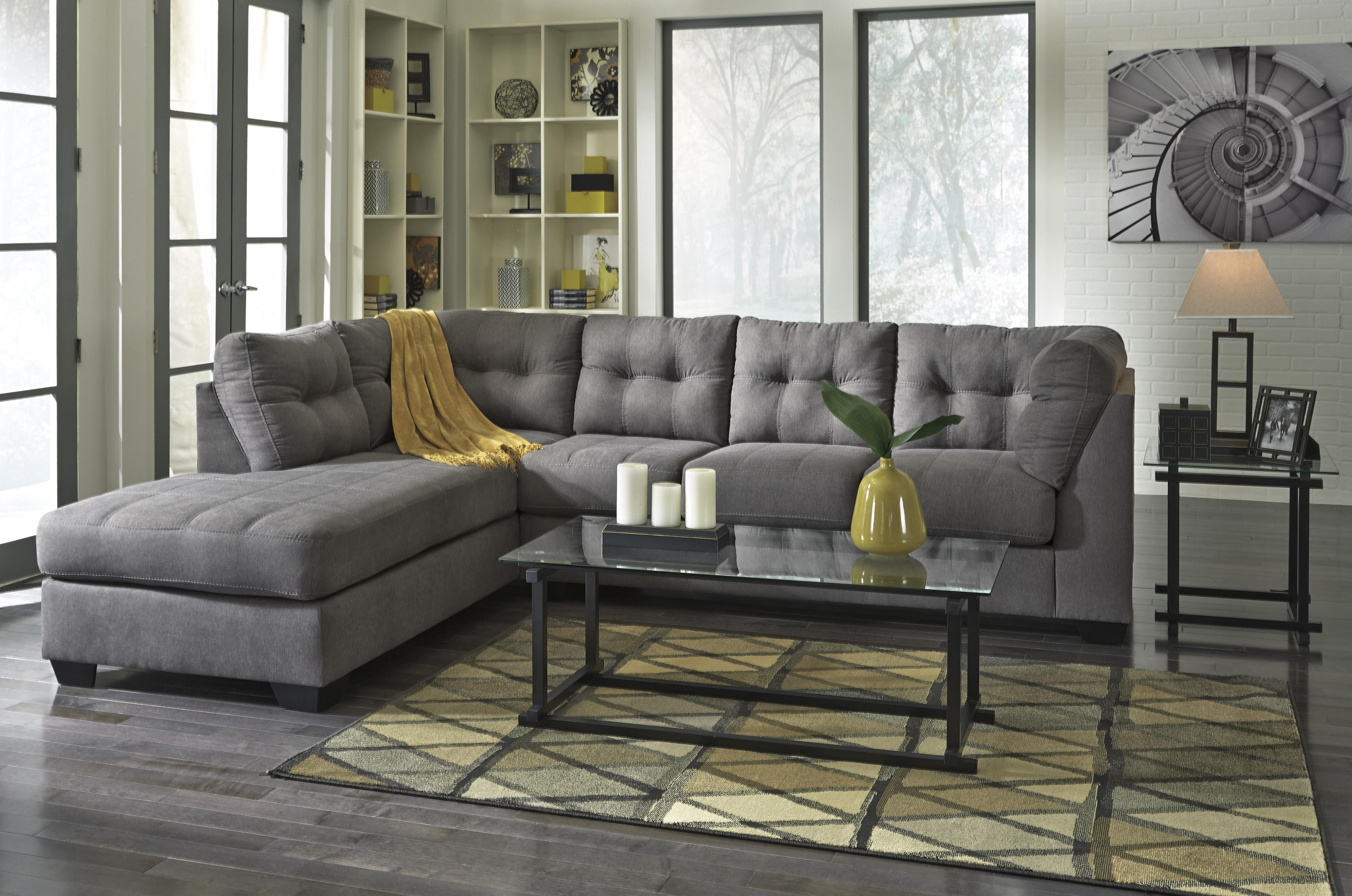 Benchcraft By Ashley Maier Charcoal 2 Piece Sectional