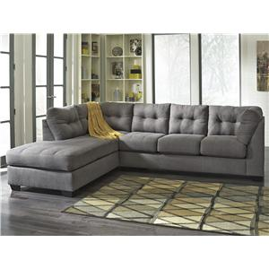 Benchcraft Maier - Charcoal 2-Piece Sectional w/ Sleeper & Chaise