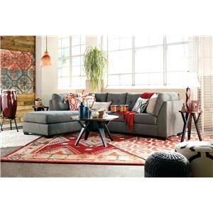 Ashley Furniture Benchcraft Maier - Charcoal 2-Piece Sectional with Left Chaise - 4520016+67