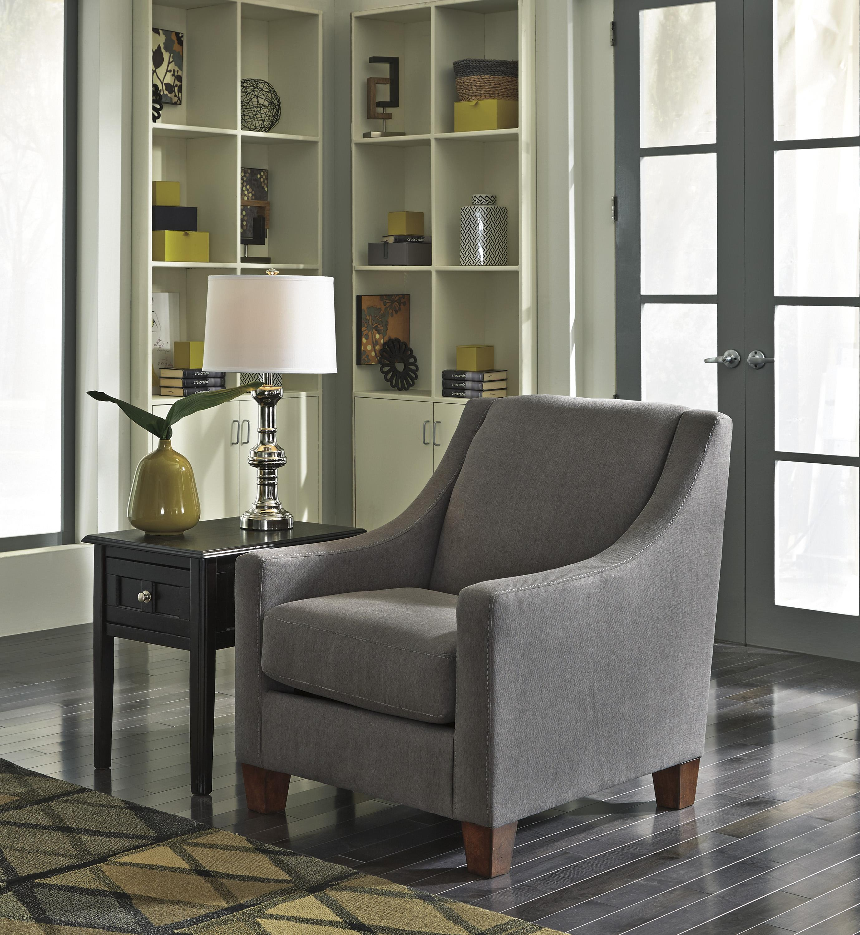 Benchcraft By Ashley Maier Charcoal Contemporary Accent