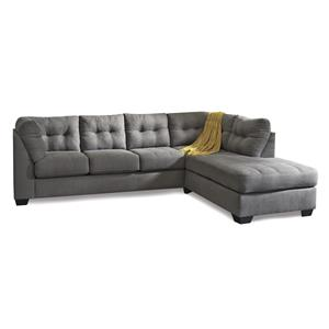 Benchcraft Jody - Charcoal 2-Piece Sectional with Right Chaise