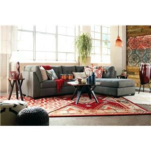 Ashley Furniture Benchcraft Maier - Charcoal 2-Piece Sectional with Right Chaise - 4520066+17