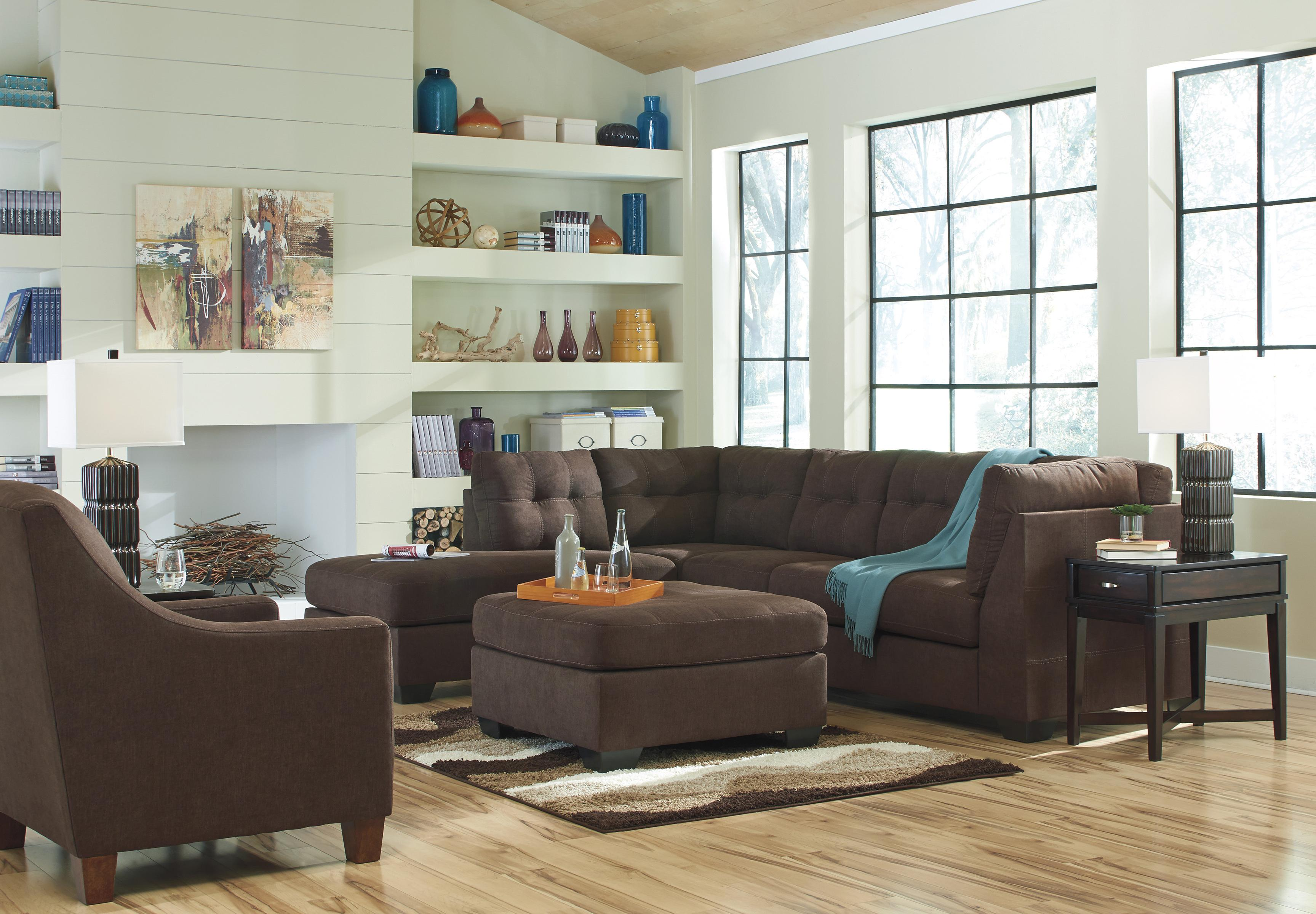 Benchcraft Maier - Walnut Stationary Living Room Group - Item Number: 45201 Living Room Group 4