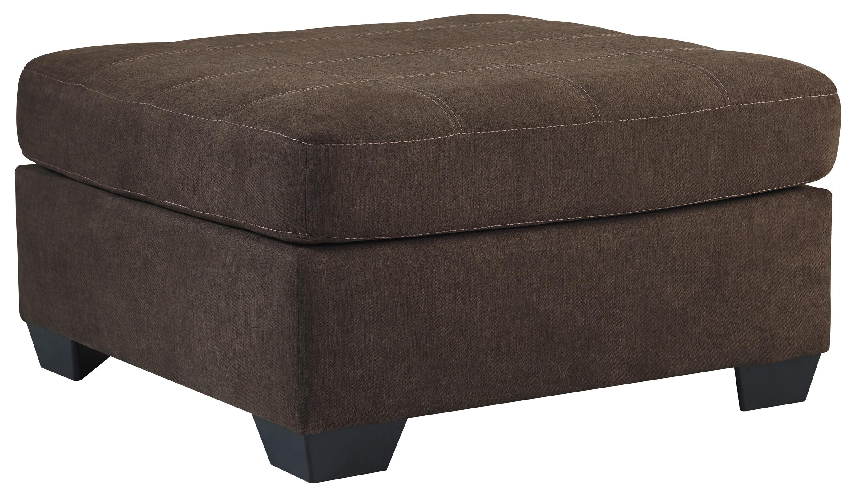 Benchcraft Maier - Walnut Oversized Accent Ottoman - Item Number: 4520108