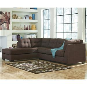 Benchcraft by Ashley Maier - Walnut 2-Piece Sectional with Left Chaise