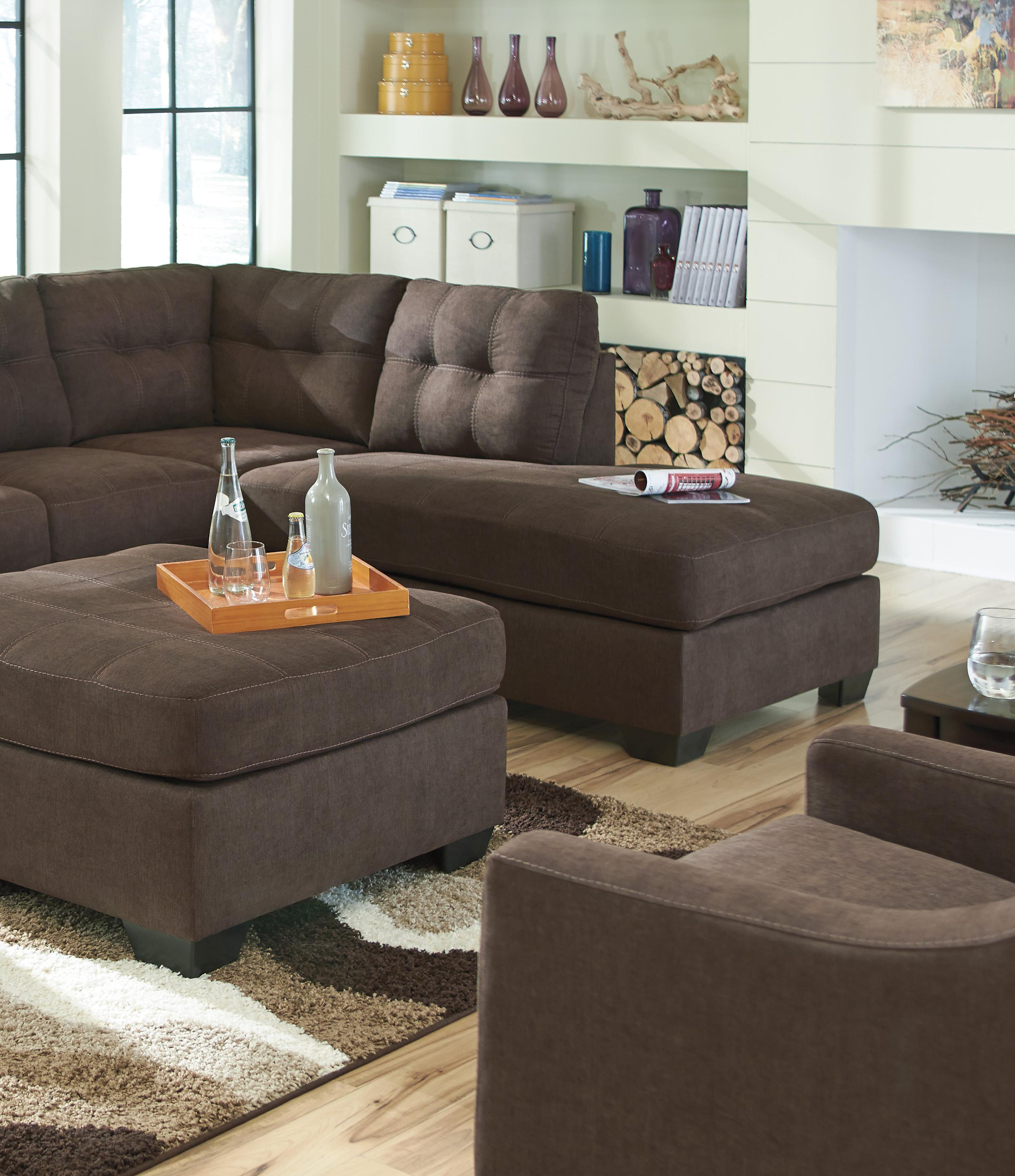 Leather Sofa Repairs In Liverpool: Walnut 2-Piece Sectional With Right